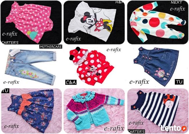 56-62-68-74-80-86 cm angielskie ubranka dziewczynka chłopiec