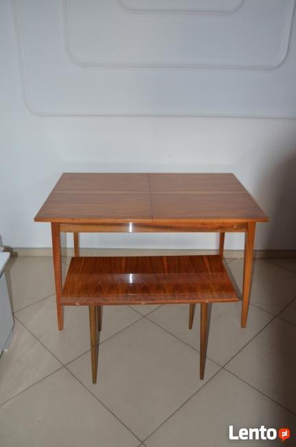 Stół rozkładany PRL, stolik kawowy, Meble PRL, Stół jadalnia