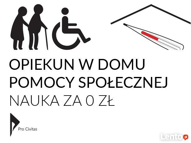 Opiekun w domu pomocy społecznej DPS – Nauka za darmo!