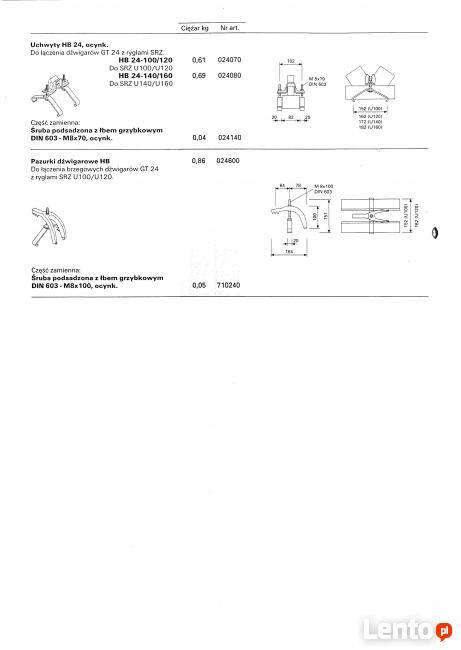 Uchwyt HB 24 i pazurki dźwigarowe HB VARIO PERI