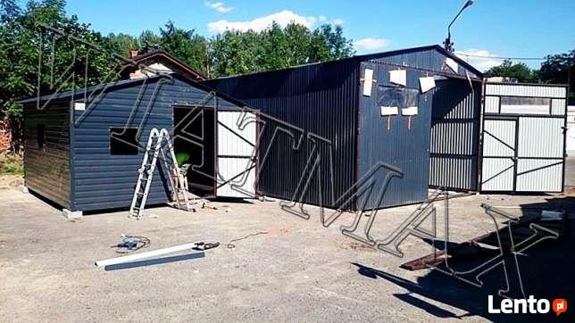 Garaż blaszany Cały z profili zam./PROMOCJA/4x4 m