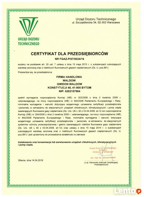 Klimatyzacja i Chłodnictwo - Serwis / montaż Bytom / Śląsk