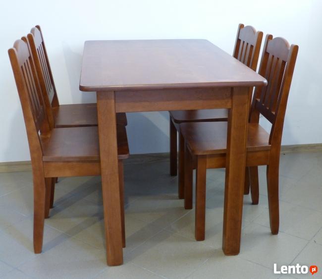 Drewniany Stół Kuchenny 110x70cm Z Krzesłami Do Kuchni Kluczbork