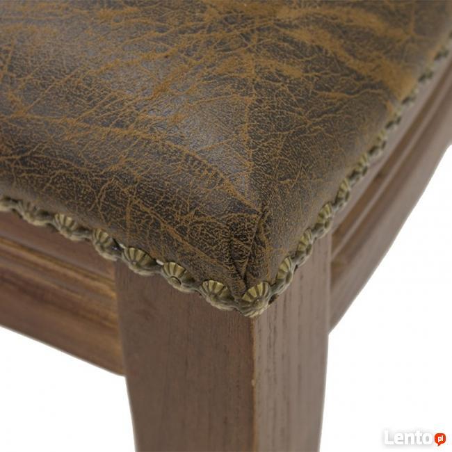 drewniane krzesło gabinetowe skóra ekologiczna