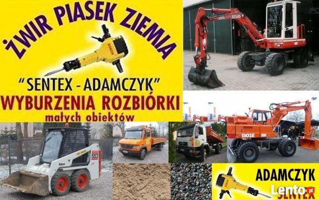prace roboty ziemne usługi mini koparka ładowarka Olsztyn
