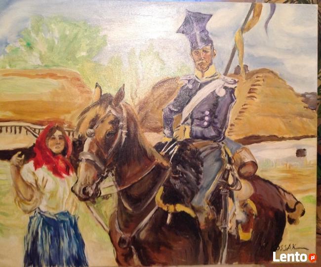 Ułan i dziewczyna -Kopia obrazu Wojciecha Kossaka
