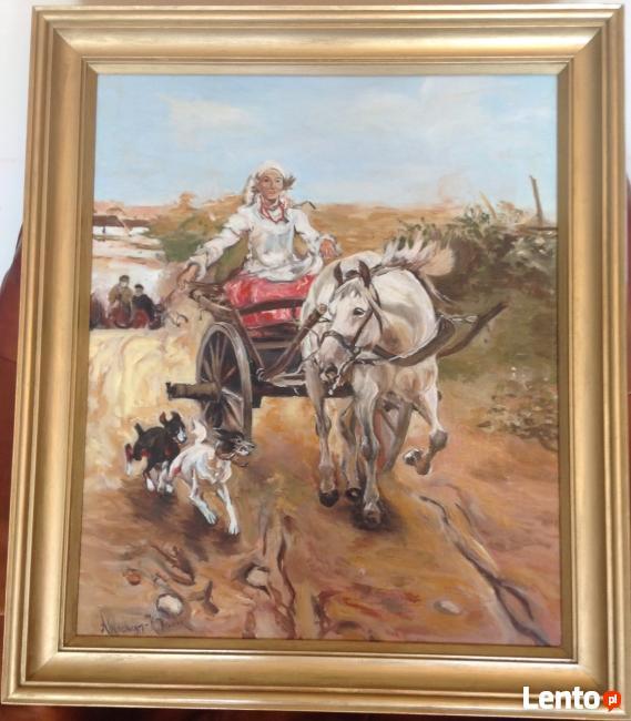 ,, Przejażdżka -Kopia obrazu Alfreda Wierusza Kowalskiego