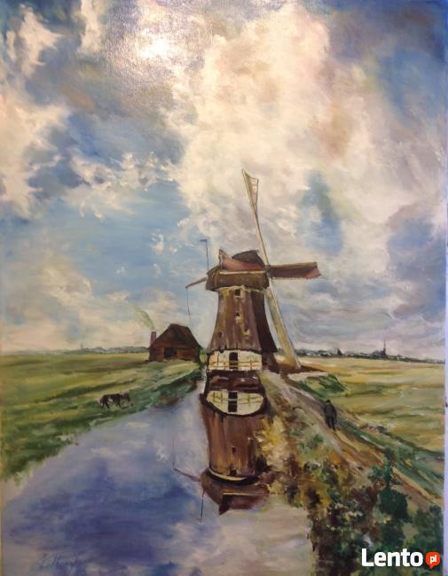 Pejzaż z wiatrakiem