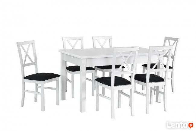 Nowoczesny Biały stół z krzesłami- sellmeble