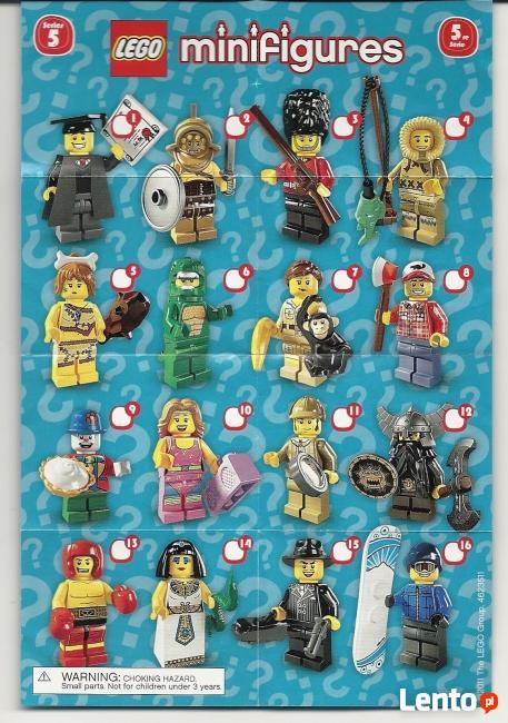 LEGO MINIFIGURES - 8805 - 5 SERIA - Wyprzedaż kolekcji