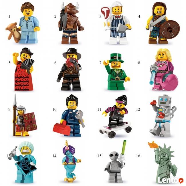 LEGO MINIFIGURES - 8827- 6 SERIA - Wyprzedaż kolekcji
