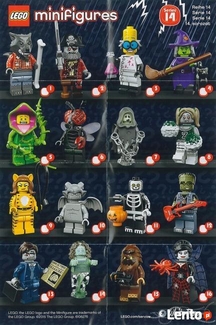 LEGO MINIFIGURES - 71010 - 14 SERIA - Wyprzedaż kolekcji