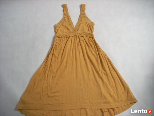 H&M sukienka długa Haft Koronka 42 44 Nowa