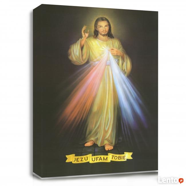 Religijne obrazy na płótnie canvas Jezus Miłosierny, Maryja
