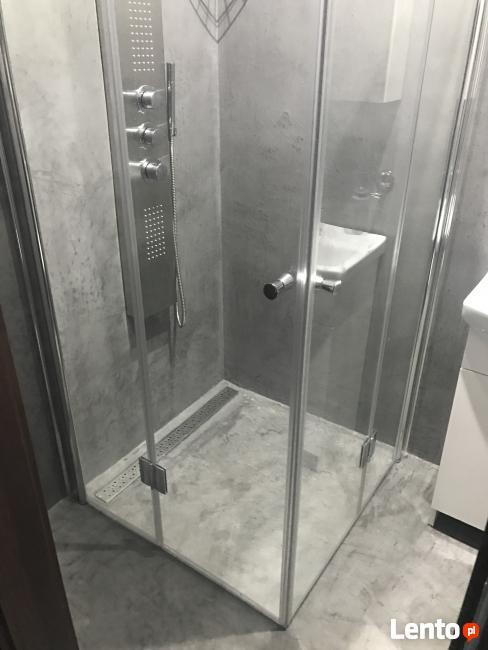 łazienka Bez Kafli Bez Fug Beton Cire Woskowany Mikroc