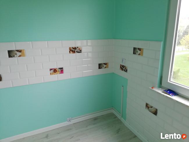 Malowanie , gładzie tradycyjnie lub agregatem tapetowanie