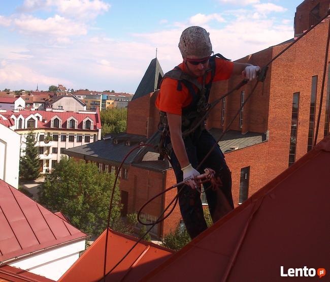 Malowanie dachów, prace na wysokości, montaż reklam, mycie