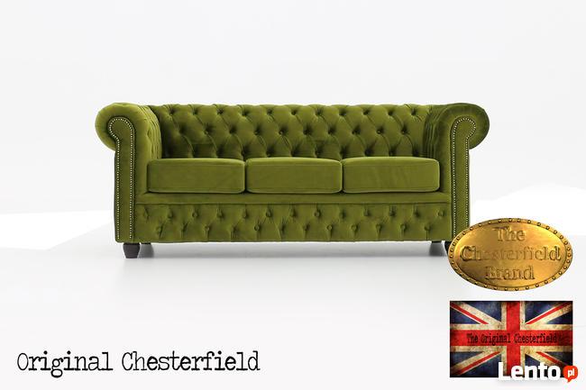 Chesterfeield sofa 3 os Brighton Fluweel z zamszu