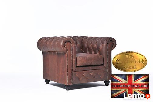 Chestrefield sofa skorzana Braz Vintage