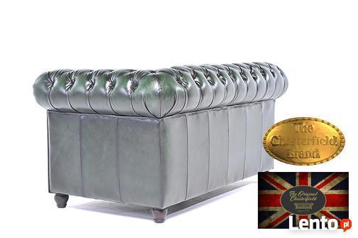 Chesterfield sofa skorzana 2 os