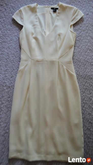 Sukienka z krótkim rękawem  écru  S   H&M
