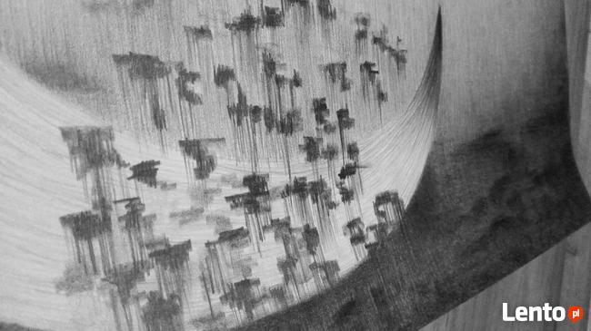 PROMO Night Mari Vibo 50x65 cm ołówek grafika plakat obraz