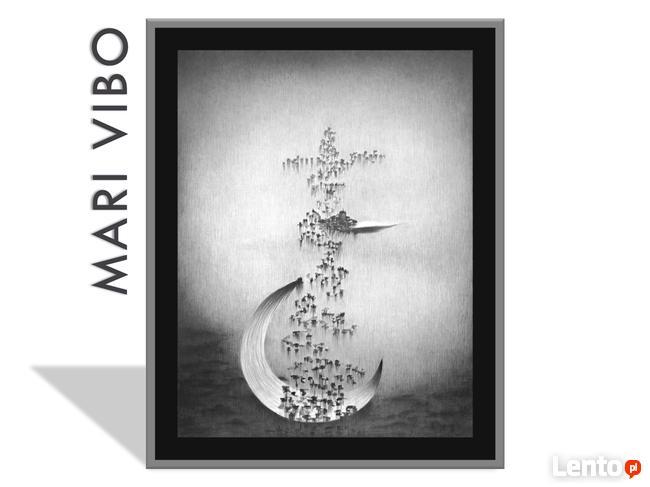 Night Mari Vibo 50x65 cm ołówek grafika plakat obraz