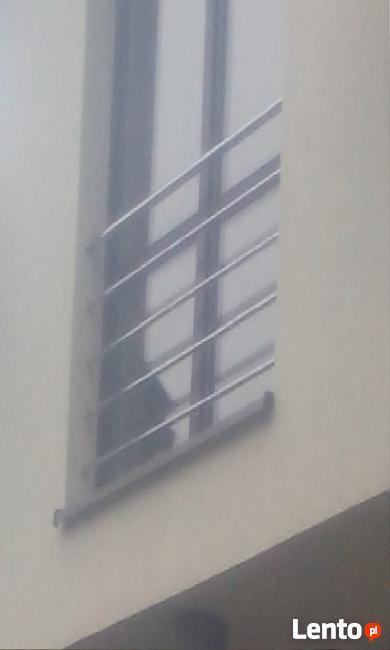 Schody drewniane ,barierki nierdzewne ,francuskie okna
