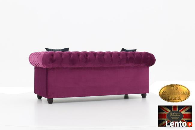 Chesterfield sofa 3 os z zamszu mix kolory
