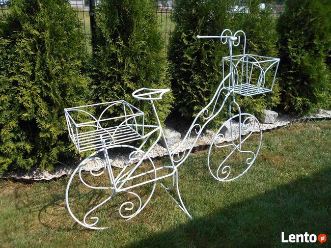 Rower kwietnik ozdoba do ogrodu na taras na balkon