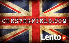 Chesterfield skorzana sofa 3 os Brighton