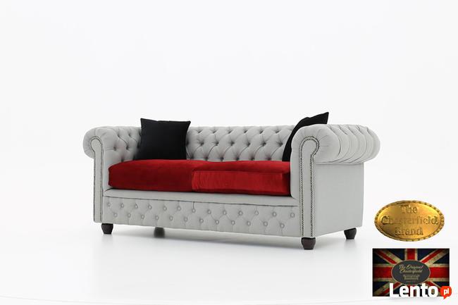Chesterfield sofa 3 osobowa z materialu rozne kolory