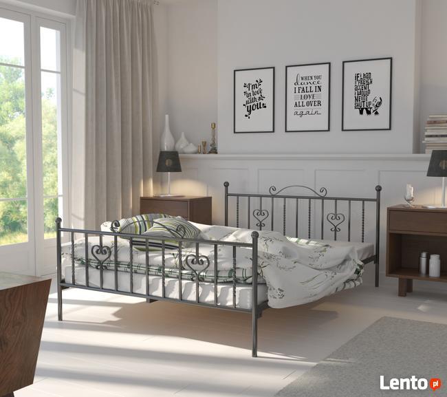 łóżka Metalowe Do Sypialni Wzór 4 Lak System świerzawa