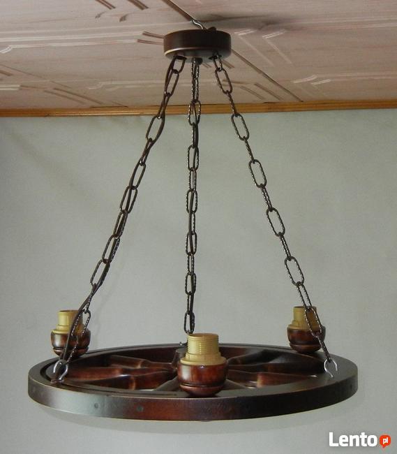 Lampa Do Altany Lampa Z Koła Wozu Koło Drewniane Sucha Beskidzka