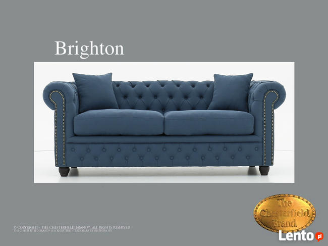 Chesterfield sofa Brighton Pitch z materialu
