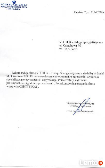 ™ Sprzątanie po zgonach zmarłych Lider na rynku-Vector