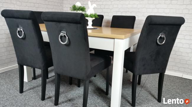 Zupełnie nowe Krzesło pikowane tapicerowane z ozdobnym wałkiem producent Lubin QX01