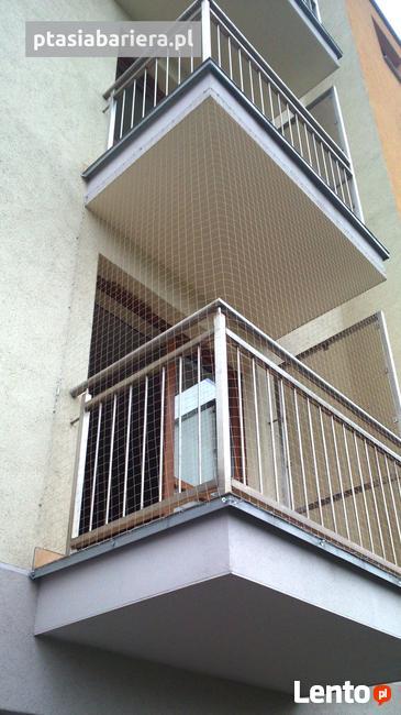 Siatka na gołębie na balkon. Ptasia bariera.