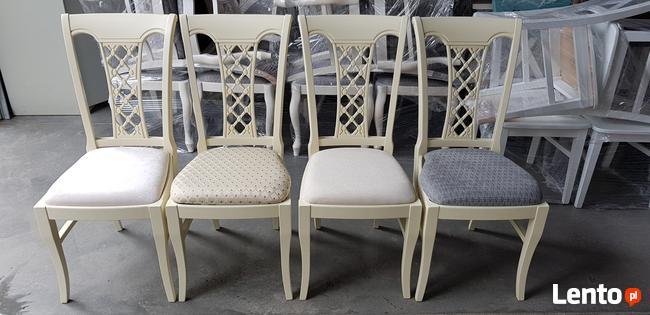 Piękne krzesło tapicerowane modne klasyczne Producent nowe