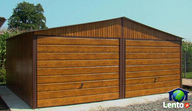 Garaże Blaszane 6x5 Złoty Dąb Blaszaki Drewnopodobne Garaż