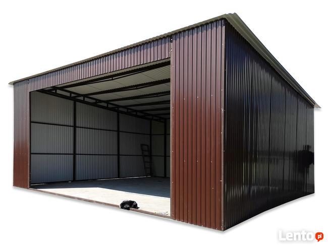 Garaż Blaszak na samochód 7x8m z bramą wjazdową 5m
