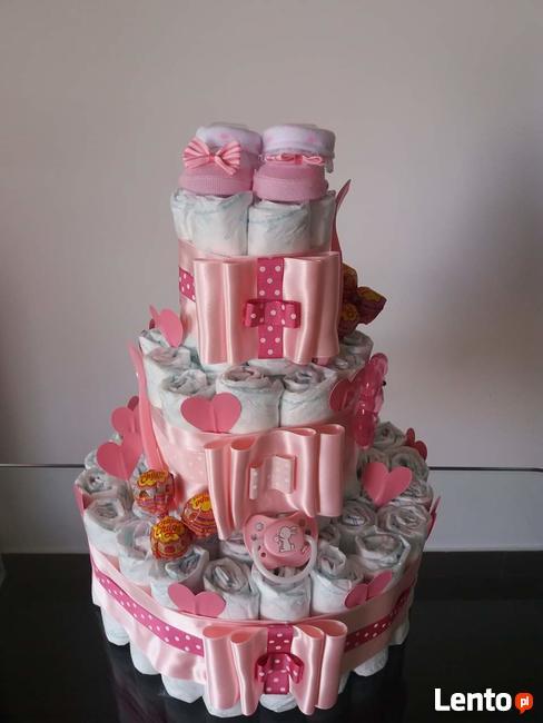 Tort z pieluch tort z pampersów