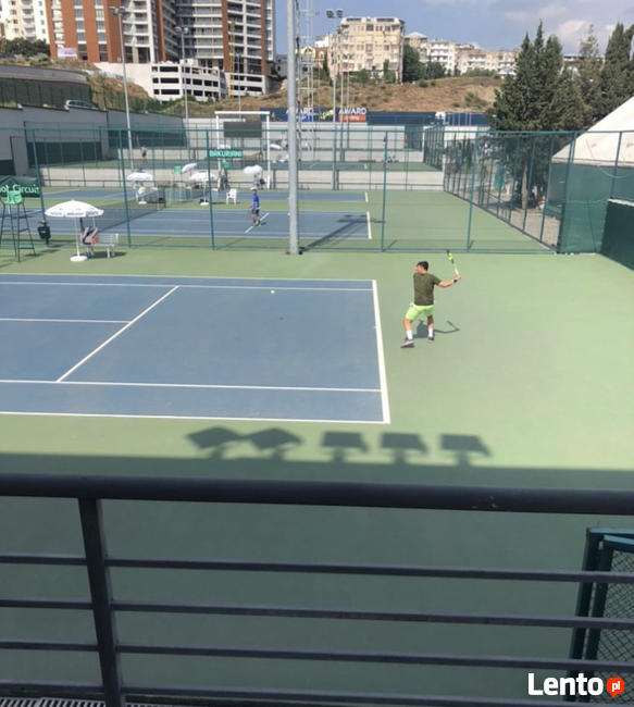 Sparing partner i zawodnik tenisa
