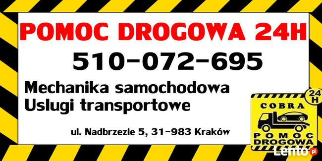 POMOC DROGOWA 24H/7 laweta Kraków autostrada A4 holowanie