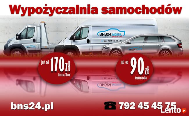 Wynajem wypożyczalnia najem samochodów aut osobowych Kraków