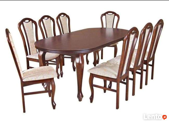 Stylowy Stół z 8 krzesłami -sellmeble!