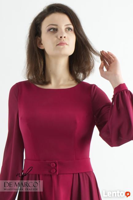 Elegancka sukienka dla siostry Pana Młodego, De Marco