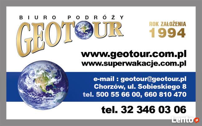 Biuro Podróży Geotour - wczasy, bilety, kolonie