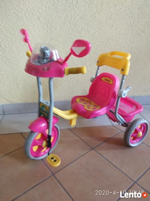 rowerek trójkołowy dziecięcy daszek