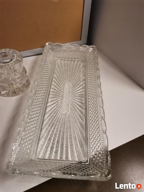 Talerze świeczniki patera kryształ